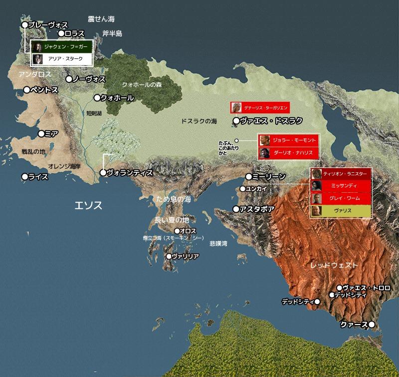 ゲーム・オブ・スローンズ シーズン6『第3話 背任者』地図と登場人物
