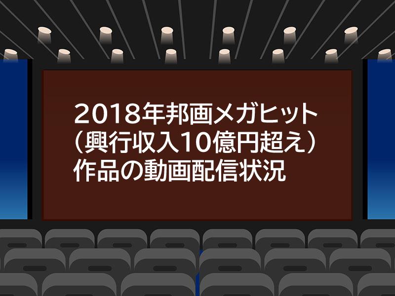 22018年映画興行収入ランキングTOP31作品の動画配信状況【邦画編】